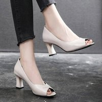 Large Size 41 Women Dress Shoes Black High Heels Ol Office L...