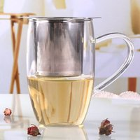 Stainless Steel Mesh Tea Infuser Tool Household Reusable Coffee Strainers Metal Spices Loose Filter Strainer Herbal Spice Filters BH5267 TYJ