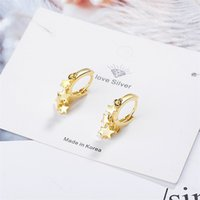 2021 Fashion Simple Gold Silver Color Star Earrings for Women Round Personality Hoop Earings Jewelry Korean Orecchini aretes 364 Q2