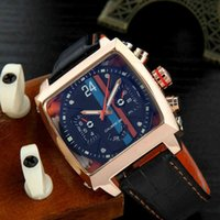 Monaco-24 Men Watches Top Brand فاخرة ووتش Tonneau التلقائي Tourbillon الأعمال Heuer ساعة اليد الميكانيكية للرجل