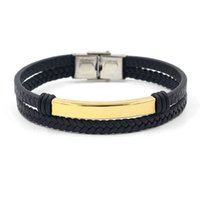 Beliebte Titan Stahl Schmuck Trendy Herrenmode Gold Glattes Gesicht Namensschild Armband DIY Gravierte Liebhaber Armband
