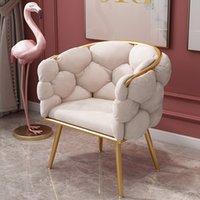 라이트 럭셔리 솜 털 크리 에이 티브 디자인 벨벳 안락 의자 노르딕 거실 가구 편안한 캐주얼 등받이 소파 그물 레드 귀여운 소녀 메이크업 의자