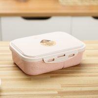 Grade de qualité Riz Husk Boîte à lunch de la boîte de vaisselle de blé Blé de blé de paille Bento Bento Rectangulaire Bento Rectangulaire