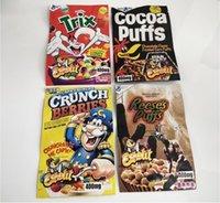 Açılabilir Esketit Mylar Çanta Crunch Çeyrek Reese Kakao Puffs Trix Yerler Gummies Ambalaj Koku Geçirmez Fermuar Kılıfı 400mg FedEx Ücretsiz