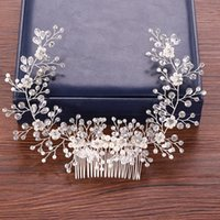 Hair Clips & Barrettes Pearl Rhinestone Comb Bride Accessories Wedding Headband Tiaras Bridal Headpiece