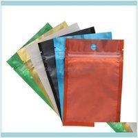 Paketleme Ofis Okul Işletme Endüstriyel Renkli Açılabilir Zip Mylar Alüminyum Folyo Çantalar Koku Geçirmez Torbalar Takı Çantası Bir Taraf Açık D