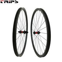 자전거 바퀴 700C 탄소 도로 디스크 브레이크 240S 센터 잠금 장치 35 / 45mm Clincher Tubeless 12x100mm 12x142mm 사이클로 크로스 자전거 디스크 Wheelset