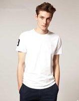 2021 남자 여름 캐주얼 의류 작은 말 악어 자수 티셔츠 남성 슬림 피트 짧은 소매 흰색 Tshirt 플러스 사이즈 S-5XL
