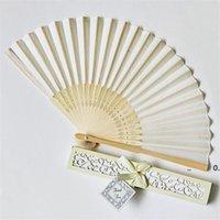 15 가지 색상 개인화 된 결혼식 팬들이 실크 접이식 손으로 텍스트를 인쇄 선물 상자 결혼식 호의 및 선물 RRD11278