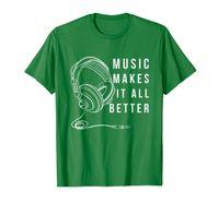 Music Makes It All Better T-Shirt Headphone Design