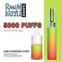 RandM Rechargeable Vape Pen dazzle 5000 Puffs R and M Disposable E Cigarette With RGB Light Glowing