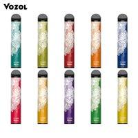 Vozol Bar 2200 일회용 포드 전자 담배 Aio Vape Kit 1100mAh 배터리 6.5ml 미리 채워진 펜 장치 대 HQD 2500 1200