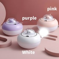 Humidifier Aromatherapy Diffuser USB Cool Mist Maker LED Lamp Portable Ultrasonic Aroma-Diffuser Cat-Humidifier for Home