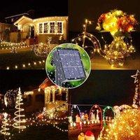 Party Dekoration Solarleuchte 5V 100LED 8 Funktion 10 Meter 100 Lampe Gummi linie wasserdichte outdoor string beleuchtung weihnachten 6