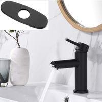 Black Bathroom Faucet Agriturismo singolo manico lavabo lavabo lavabo lavabo con linea di rifornimento miscelatore senza piombo