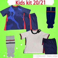 2020 2021 4 étoiles Kit Kit de football Jerseys America Football Shirt Top Uniformes 20 21 Garçons Sets Team National Team Enfants Vos Unis Uniformes Accueil Blanc
