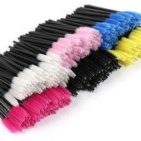 Eyelash Curler Brush Makeup Brushes100pcs Individual Disposable Mascara Applicator Comb Wand Lash Brushes Tools 6colors Dfdf