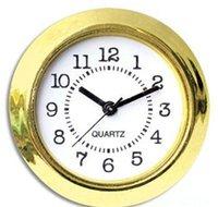 その他のアクセサリー時計装飾ホームガーデンドロップデリバリー2021 37mmと品質Niゴールドプラスチックフィットアービック数字ミニインサートクロックM4LX