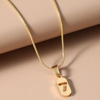 Pendant Necklaces Design Lucky Number 7 Clavicle Chain Necklace For Women Simple Punk Metal Gold Square Geometric
