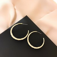 earrings Simple 925 sier needle fashion pearl French high-grade C-type , versatile and Earrings
