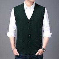 Alta qualità Autum Winter Fashion Brand V Collo a V maglia Knit Krean Vest Maglione natalizio Uomo Bambini in lana Casual Mens Vestiti da uomo