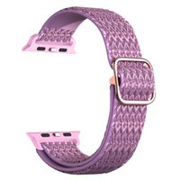 Nylon Strap Diamond Pattern Elastic Bands for Apple watch 1 2 3 4 5 6 7 SE with adapter connector 200pcs lot