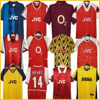 Arsenal Highbury Home Football Shirt Jersey Soccer Pires Henry Reyes 02 03 04 Retro Jersey 05 06 98 99 Bergkamp 94 95 Adams Persie 96 97 Galla 86 87 89