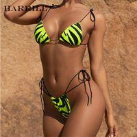 Borsa a triangolo Bikini Cavo costume da bagno animale a strisce costume da bagno sexy sexy backless swimwear swimwear vitaband cut-out bikini set da donna