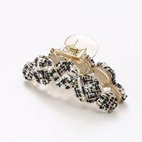 Stricken Baumwoll-Haarclips für Mädchen Mode Krabbenklauen Haarnadeln Frauen Koreanisches Haar-Accessoires Neue Haarklauen YHM885 346 G2