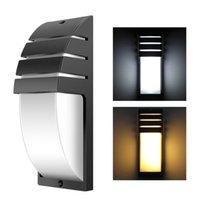 10pack 12w LED 벽 빛 방수 IP65 현대 현관 램프 AC90-260V 야외 정원 홈 복도 레트로 LED 벽 램프