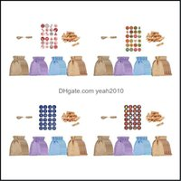 Gift Event Festive Party Supplies Home & Gardengift Wrap 24 Pieces Jute Linen Bags For Jewelry Dstring Pouch Packaging Wedding Christmas Bur