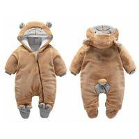 Neonato inverno felpa con cappuccio pagliaccetto abbigliamento bambino ragazzo ragazze vestiti cotone carino infantile orso bambino pagliaccetto 201216 765 y2