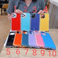 TPU Cases Candy Colors Cover 3in1 Back With Tempered Glass Anti-Fall Airbags for iPhone13 12 mini pro max 11 XR XS SamsungS21 PLUS Ultra A11 A31 A01 A12 A32 A51 A71 A52 A72