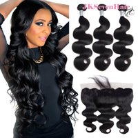 10A Remy Virgin Braziliaanse Human Hair Extensions 3 stks met 13x4inch Kant Frontale Body Wave Maleisian Peruviaanse Vietnam Dubbele Machine WEFTS WEAVE Bundels Deal