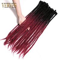OMBRE Handmade Dreadlocks Extensions 5 прядей / лот 24 дюйма вязание крючком синтетические волосы вязание крючком для женщин