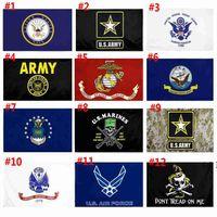 US-Armee-Flagge USMC 13 Armee Direkte Fabrik Großhandel 3x5FTs 90x150cm Luftwaffe Schädel Gadsden Camo Army Banner US Marines owd6414