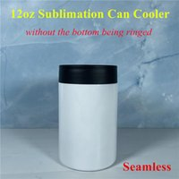 12oz Sublimation Can Cooler Blanks Can Insulator Stainless Steel Sublimation Tumbler Seamless Beer Holder Bottle Cold Can without the bottom being ringed