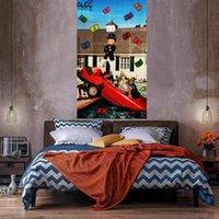 Voiture dans la piscine Accueil Décoration d'une énorme peinture à l'huile sur toile Headcrafts / HD Imprimer Art Pictures Personnalisation est acceptable 21050415