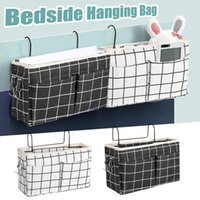 Storage Bags Canvas Bedside Hanging Pocket Bag Bedroom Magazine Pouch Diaper Caddy Toy Holder Baby Tissue Box Home Organizer