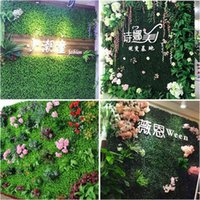 Decorative Flowers & Wreaths Lawn Wall Plant Decorating Artificial Green Plastic Festival DIY Craft Prop Party Supplies Ornament