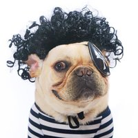 Cat Costumes Cosplay Cute Pet Dog Wigs Funny Prop Cross-dressing Hair Set Aminal Clothes Dress Up Supplies Products