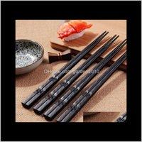 حساسة Skidproof الخشب لطيفة أدوات المائدة هدية الصينية اليابانية عيدان كوريا انعطاف السفينة euex dsaxl