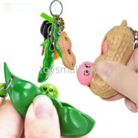 Pois Fidget Toy Toy Keychain Sensory Antistateurs Squishy Toys Squeeze Porte-haricots Pendentif Bean Soybe