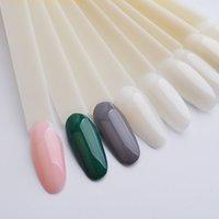 1 Set False Nail Tips Forma della ventola Full Card Painting Round Nail Art Display Pratica Gel UV Accessori Polish Accessori Manicure Strumenti