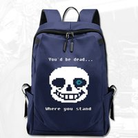 Where you stand backpack Undertale sans day pack Game dead school bag Computer packsack Quality rucksack Sport schoolbag Outdoor daypack