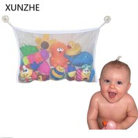 Storage Bags XUNZHE Multifunction Suction Cup Fine Mesh Bag Baby Bathing Toys Hang Home Bathroom Toiletries Sundries Organizers