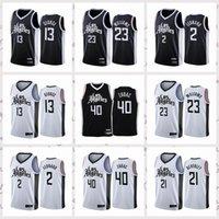 2021 Vintage Hommes rétro Jersey de basketball classique Kawhi Ivica Paul George Zubac Leonard Lou Williams shirts respirants Shorts Noir Blue Blanc Taille S-2XL