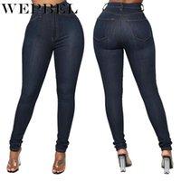Jeans da donna Weepbel Lunghezza vitello donna vita alta vita denim pantaloni matita stretch donne casual