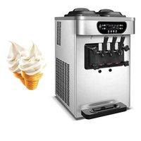 Desktop Soft Serve Ice Cream Maker Machine For Cafe Bars Restaurant Stainless Steel Vending