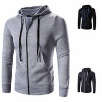 Men's Hoodies & Sweatshirts Sweater Coat Autumn And Winter European Code Zipper Pullover Hooded Youth Solid Color Comfortable Cardigan
